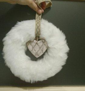 Рождественский декоративный венок ikea (икеа)