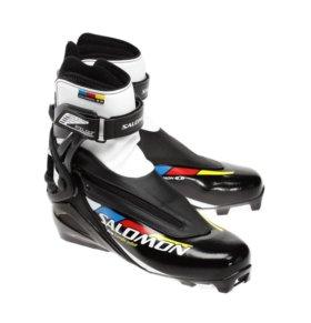 Ботинки SALOMON PRO COMBI pilot размер 44 с лыжами