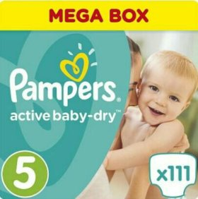 Pampers Active Baby-Dry, памперс