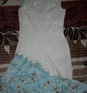 👗 Платье бежевая ткань похожа на замшу.