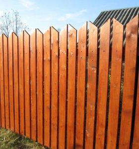 Забор из штакетника зазор 7 см h= 1,5 м ДШ 001 НО