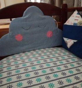 Бортики в кроватку + одеялко. С доставкой