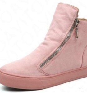 Ботинки женские розовые новые