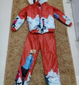 Лыжный костюм с ярким принтом. Размер 44-46.