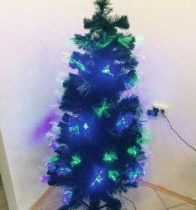 Искуственная елка ель новогодняя светящаяся