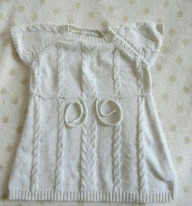 Вязаное платье, 80р-р