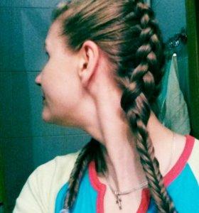Плетение волос,колосков разных типов.