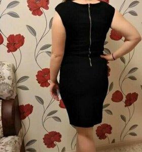 Черное платье 48-50 размер
