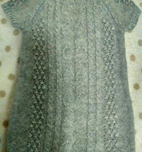 Вязаное платье 80р-р