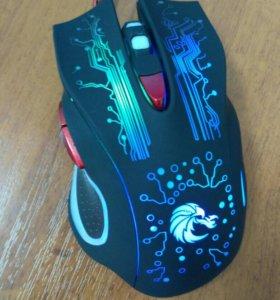 Новая Мышь игровая DPI: 1200/1600/2400/3200/5500