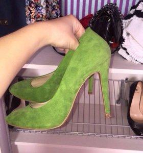 Туфли замшевые, Zara