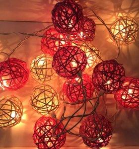 Тайские фонарики гирлянда