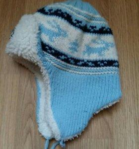 Теплая детская шапка