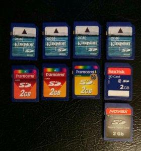 Карты памяти 2, 4, 8, 16, 32 gb