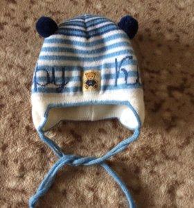Детская шапочка 0-3 месяца