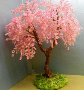 Деревья, цветы из бисера