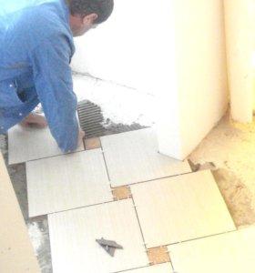 Укладка плитки, ламината, кафеля, мозаики