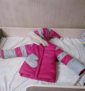 Куртка для девочки, очень теплая