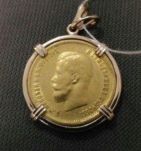 Кулон Николай 2 в золоте