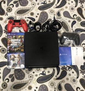 PlayStation 4 slim 1 tb как новая
