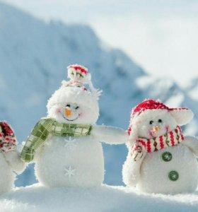 Снеговики под ёлку