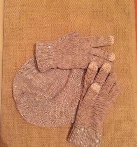 Комплект шапка и перчатки Esprit