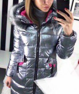 парка пуховик серебро куртка новая зима пальто