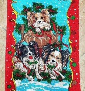 В наличие новогодние вафельные полотенца