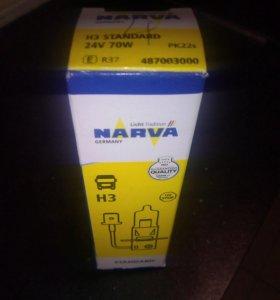Лампа H3 Narva 24v 70w