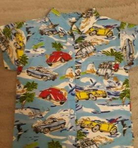 НОВАЯ Рубашка на мальчика р 100-104см