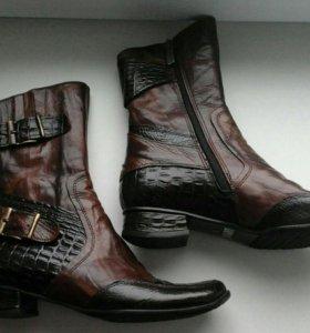 Ботинки,сапожки,кожа,зима.Новые.