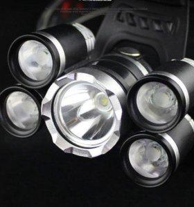 Мощный налобный LED фонарик