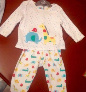 Пижама Mothercare 6-9 мес