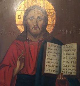 Икона Господь Вседержитель 1850-1900 гг