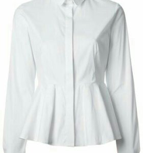 Белая рубашка с баской.