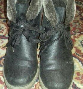 Ботинки зимние 300 руб 38 размер,туфли 38 р. 200 р