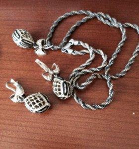 Комплект из серебра 925