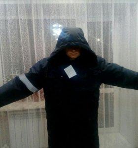 Зимнее удлененное пальто