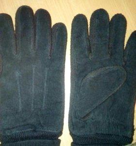 Перчатки теплые замшевые мужские