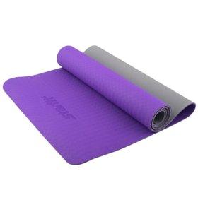 Коврик для йоги FM-201, TPE, 173x61x0,5 см