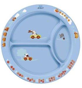 тарелка с разделителями для порций