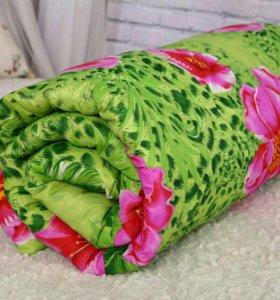 Одеяло шерсть бамбук лебяжий пух