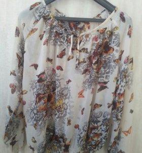 Блуза шифоновая. р.48-50