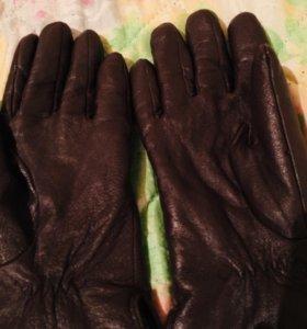 Новое перчатки из натуральной кожи с мехом!
