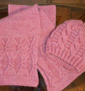 Новый комплект, шарф и шапка