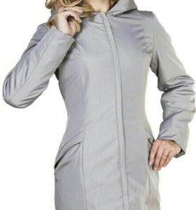 Новое пальто осень-зима (жилет в комплекте)+берет