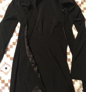 Платье женское новое чёрное с выреза на спине