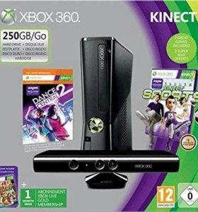 Xbox 360 slim 250 gb freeboot+kinekt