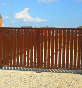 Забор из штакетника зазор 9 см h= 1,8 м ДШ 009 НО