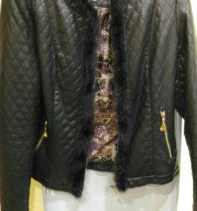 Куртка коженная!